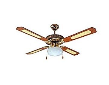 Lampadario ventilatore soffitto legno
