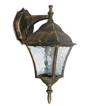 Lampada da esterno stile antico e dorato