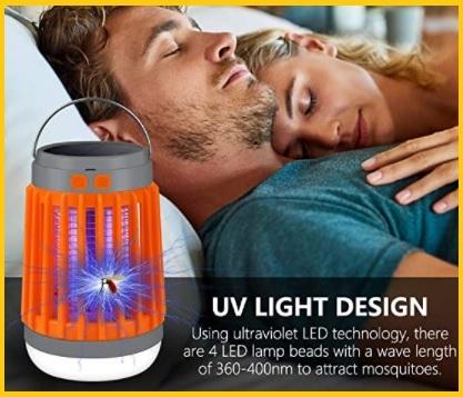 Zanzariera elettrica lampada con luce uv