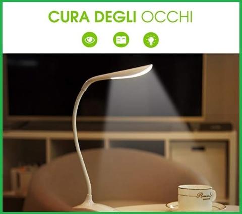 Lampada con clip led ricaricabile
