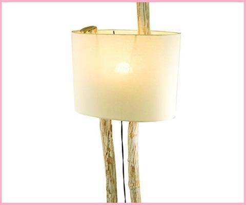 Lampada in legno artigianale