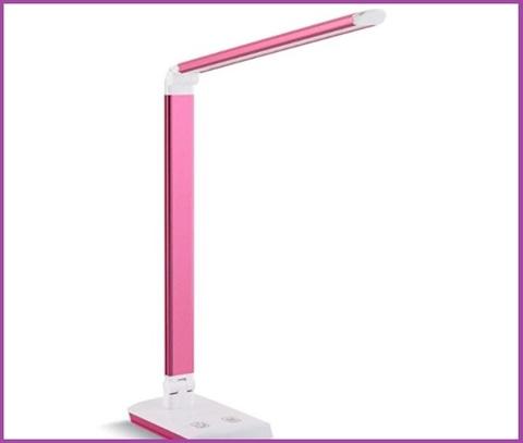 Lampada rosa da lettura portatile