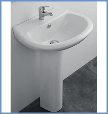 Lavandino bagno colonna