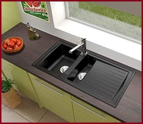 Lavabo cucina nero 2 vasche