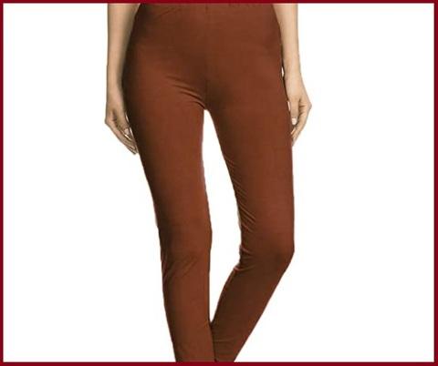 Leggings marroni donna