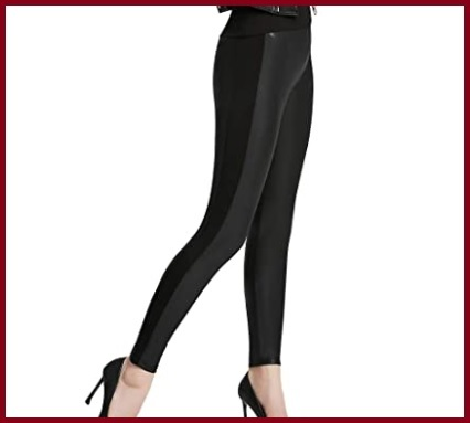 Leggings ecopelle vita alta