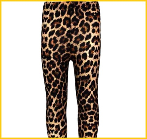 Leggings leopardati bambina