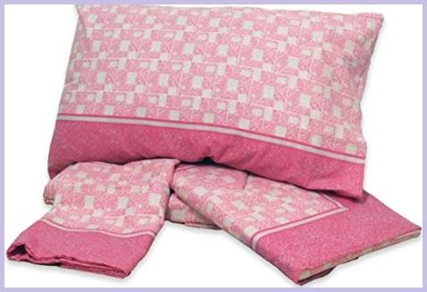 Lenzuola rosa letto singolo