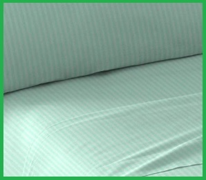Lenzuola matrimoniali cotone verde tiffany