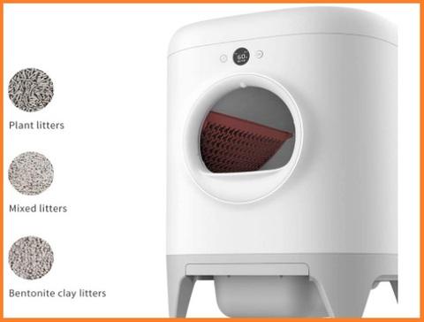 Lettiera per gatti con ingresso