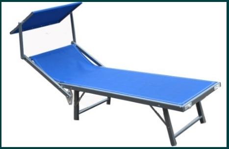 Lettino per la piscina o il mare in alluminio stabile