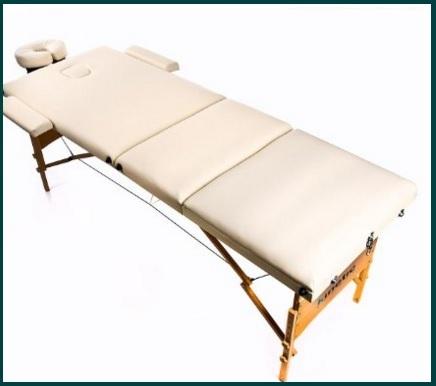 Lettino per massaggio pieghevole con base in legno