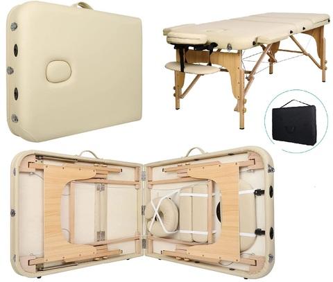 Lettini Massaggio Portatili Legno Faggio