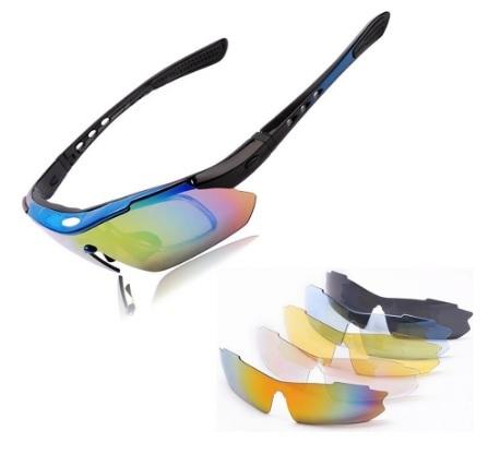 Occhiali sportivi con lenti intercambiabili