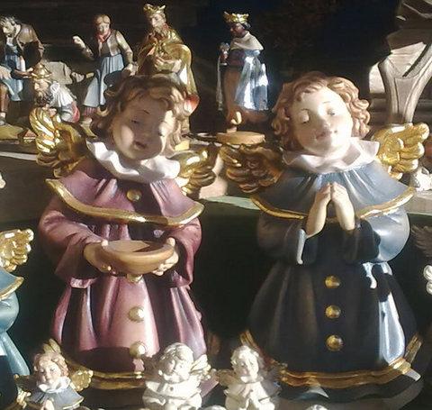 Gli angeli custodi porcellana