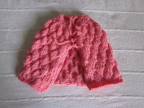 ... punto farfalla, occorrente 50 grammi di lana rosa ferri del 3,5