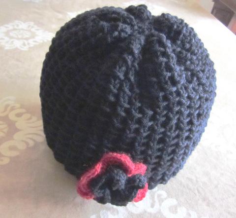 Cappellino Cuffia Di Lana Ai Ferri