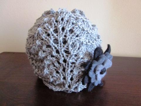 Cappellino maglia punto pavone