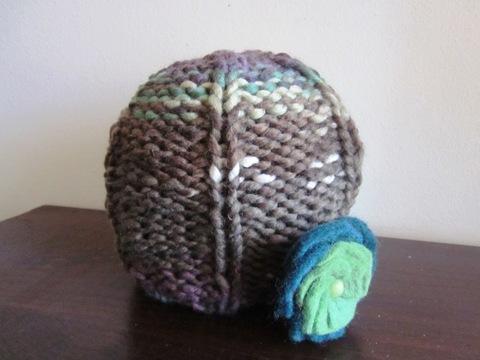 Cappellino lavori maglia ai ferri