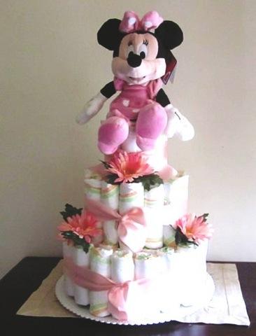 Torta Di Pannolini Per Nascita Bambina