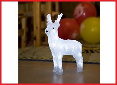 Luci natalizie con renne