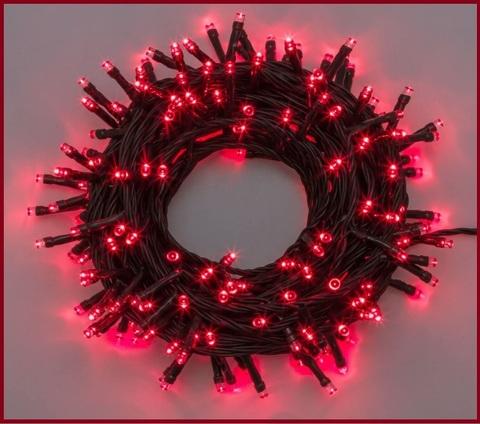 Luci natalizie rosse decorazioni