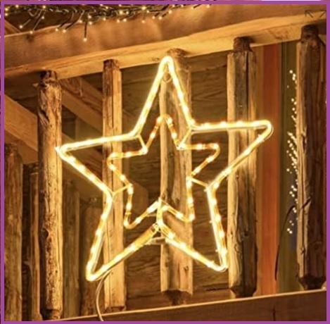 Led da appendere all'esterno natalizie per decorare