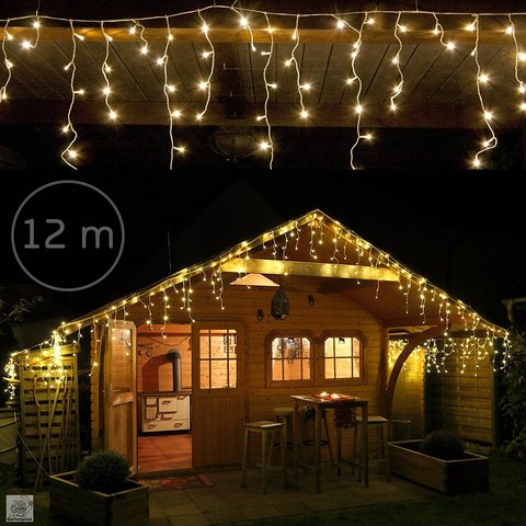 Cascata di luci led per decorare casa interni o esterni