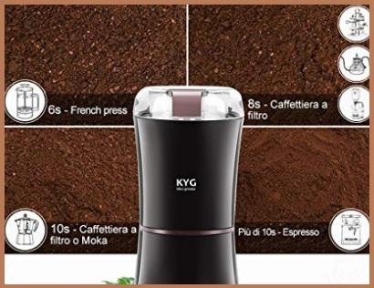 Macina Caffè Elettrico Regolabile