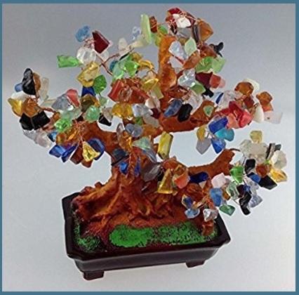 Albero feng shui bonsai giada pietra