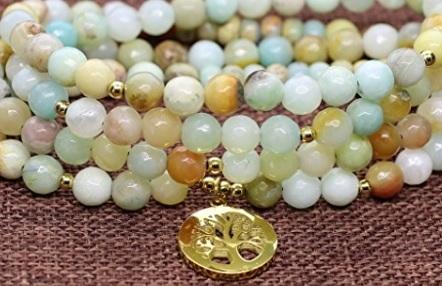 Amazzonite bracciale perle