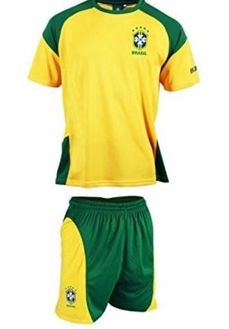 Maglietta e pantaloncini brasile calcio selecao