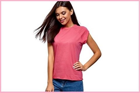 T Shirt Donna Cotone Basic Tinta Unita
