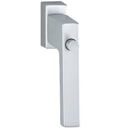 Maniglia rettangolare per finestra con blocco pulsante