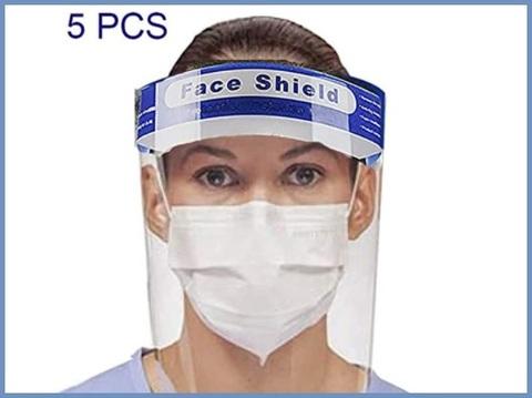 Maschera protettiva viso trasparente