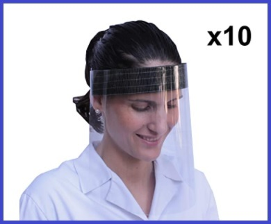 Visiera plexiglass viso