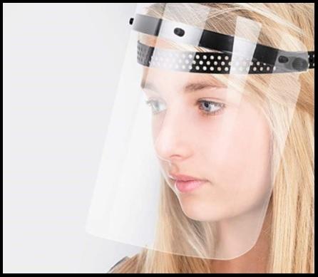 Maschera protezione viso visiera