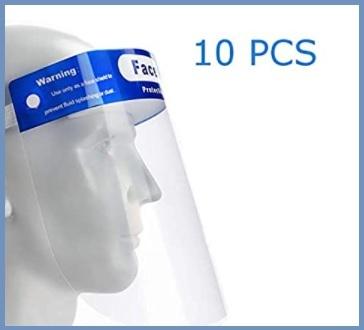 Visiera maschera trasparente