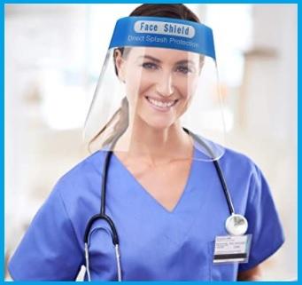Visiera per infermiere protettiva