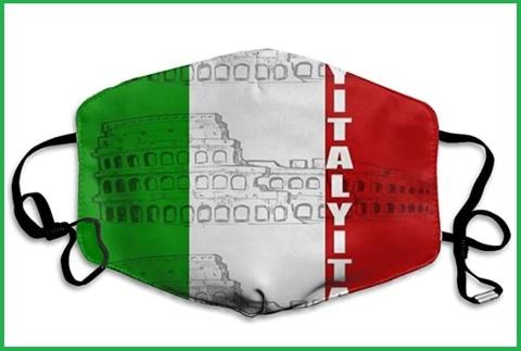 Mascherina lavabile colorata italia