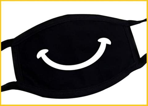 Mascherina disegnata nera