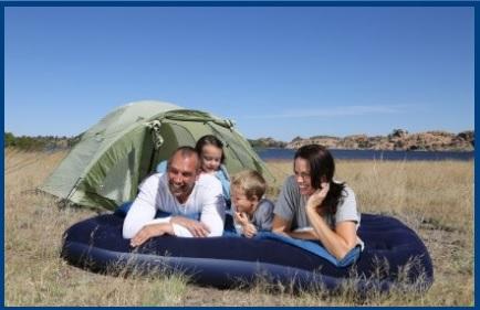 Materassino familiare comodo e per il campeggio