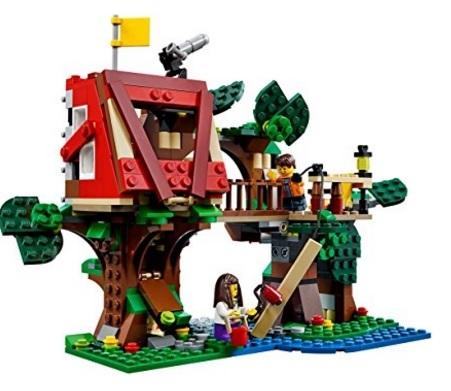 Set Varie Costruzioni Lego Creator Casa Sull'albero