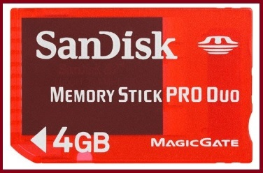 Memory stick pro duo sandisk