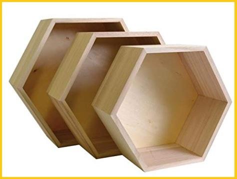 Mensole esagonali legno