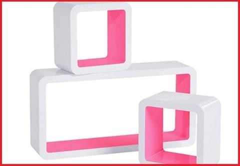 Mensole cubo colorate
