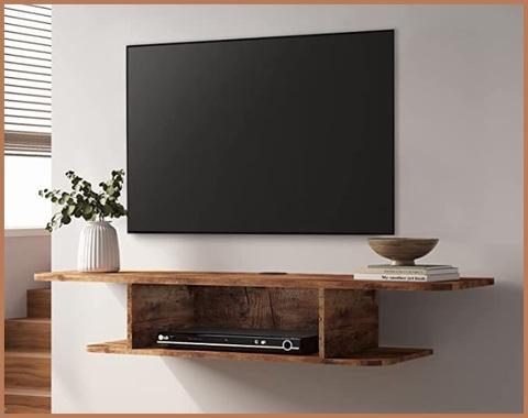 Mensola tv parete legno