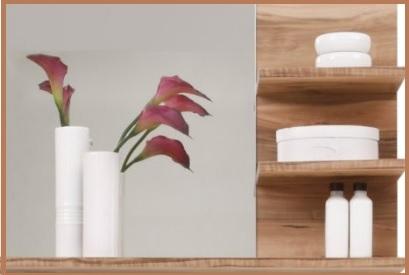 Mensola bagno legno