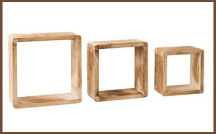 Mensole quadrate in legno