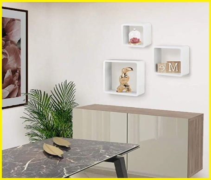 Mensole quadrate bianche design
